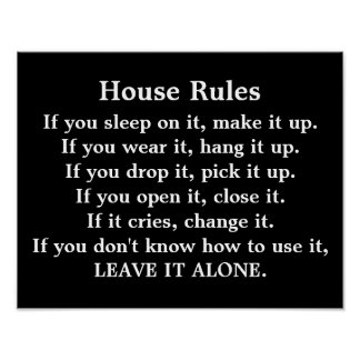 House Rules - poster print