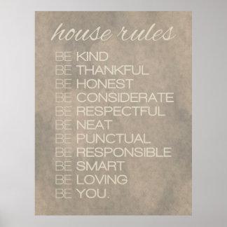 """House Rules"" Print"