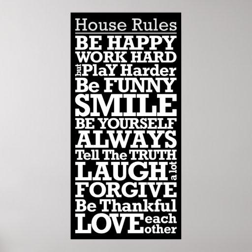 house rules sign motivational poster zazzle house rules aflevering 5 een spannende slaapkamer