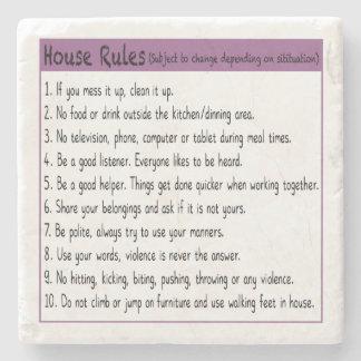House Rules Stone Coaster