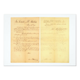 House & Senate Declaration War of 1812 HR 12A-B3 Card