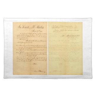 House & Senate Declaration War of 1812 HR 12A-B3 Cloth Placemat