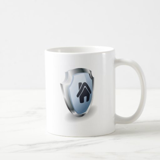 House shield concept classic white coffee mug