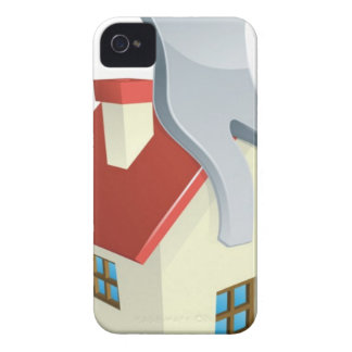 House silver man iPhone 4 case