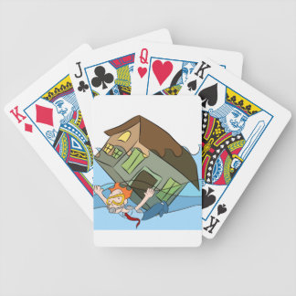 House Sinking Cartoon Underwater Bicycle Playing Cards
