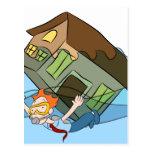 house, sinking, cartoon, underwater, real, flood,