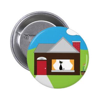 House Sitting 2 Inch Round Button