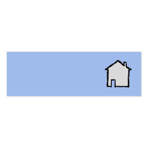 House Sketch. Black and Blue. Mini Business Card