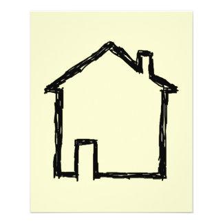 House Sketch. Black and Cream. Custom Flyer