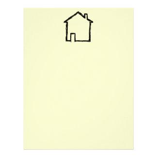 House Sketch. Black and Cream. Letterhead