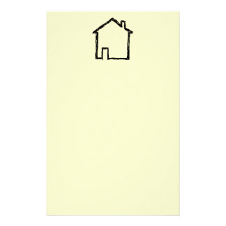 House Sketch. Black and Cream. Stationery