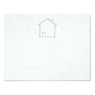 House Sketch. Gray. 4.25x5.5 Paper Invitation Card