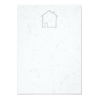 House Sketch. Gray. 5x7 Paper Invitation Card