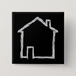 House Sketch. Gray and Black. Button