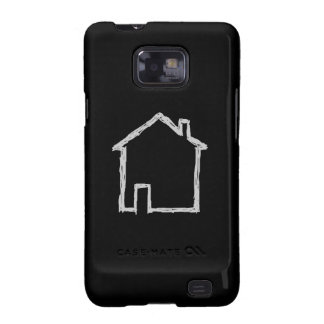 House Sketch. Gray and Black. Samsung Galaxy S2 Case