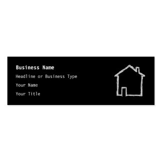 House Sketch. Gray and Black. Double-Sided Mini Business Cards (Pack Of 20)