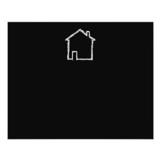 House Sketch. Gray and Black. Personalized Flyer