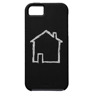 House Sketch. Gray and Black. iPhone SE/5/5s Case