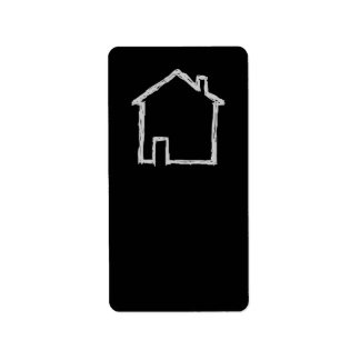 House Sketch. Gray and Black. Label