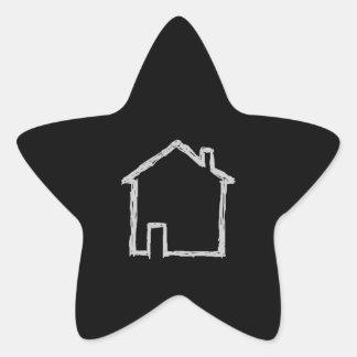 House Sketch. Gray and Black. Sticker