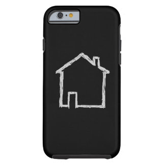 House Sketch. Gray and Black. Tough iPhone 6 Case