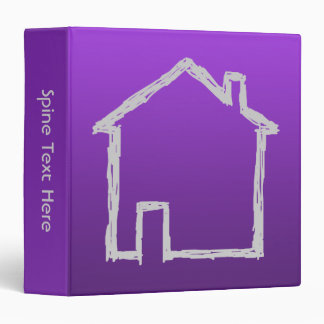 House Sketch. Gray and Purple. 3 Ring Binder