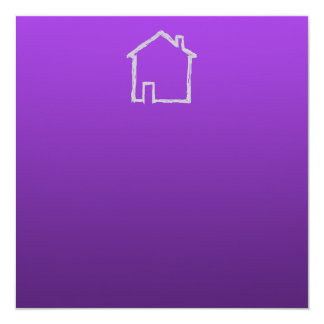 House Sketch. Gray and Purple. Card