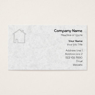 House Sketch. Gray. Business Card