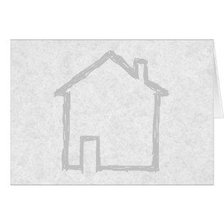 House Sketch. Gray. Card