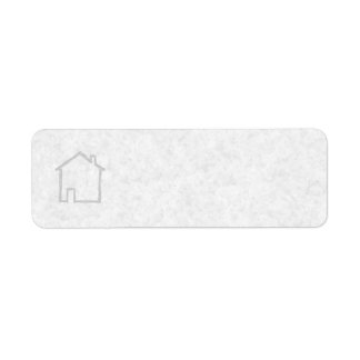 House Sketch. Gray. Label