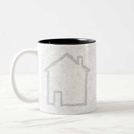 House Sketch. Gray. Mug