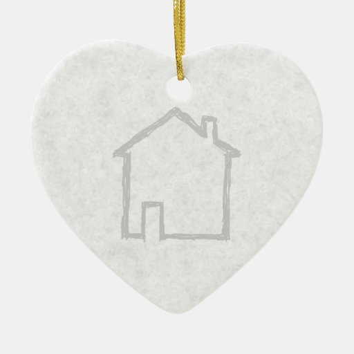 House Sketch. Gray. Ornament