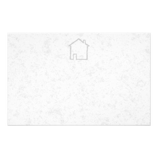 House Sketch. Gray. Stationery