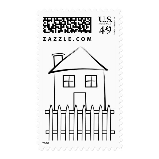 House Sketch Postage