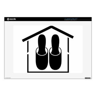 """house slippers decal for 15"""" laptop"""