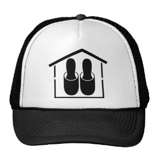 house slippers trucker hat