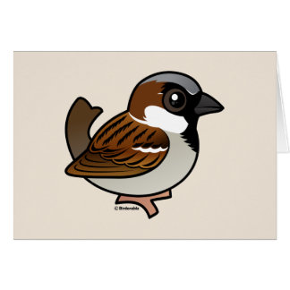 House Sparrow Card