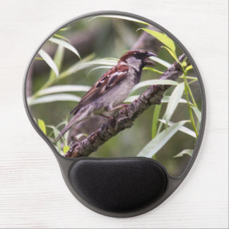 House Sparrow Gel Mouse Pad