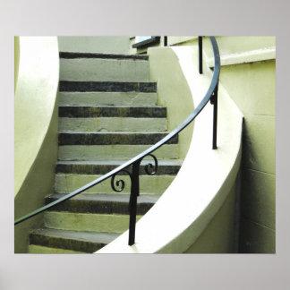 House Stairway Savannah Georgia Photograph Poster