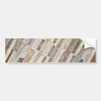 House Stone Wall Pattern Bumper Sticker