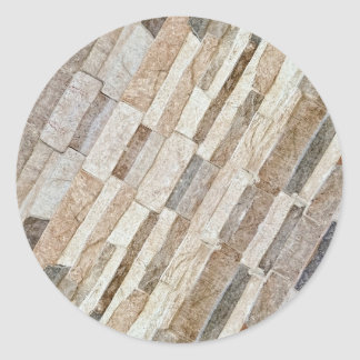 House Stone Wall Pattern Classic Round Sticker