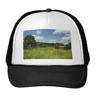 House Themed, Obsolete Lonely Old House In Reverse Trucker Hat