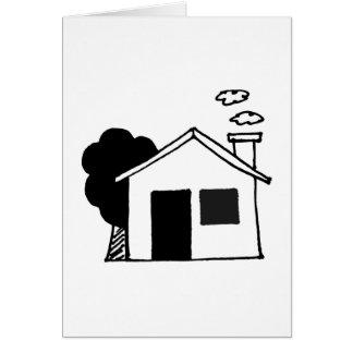 house & tree greeting card