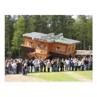 House Upside-Down Postcard