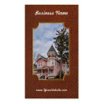 House - Victorian - Flemington, NJ - The Pink Lady Double-Sided Standard Business Cards (Pack Of 100)