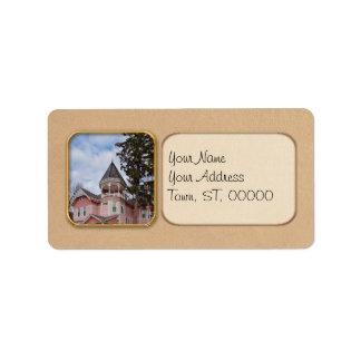 House - Victorian - Flemington, NJ - The Pink Lady Personalized Address Label