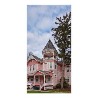 House - Victorian - Flemington, NJ - The Pink Lady Photo Card
