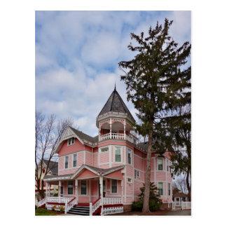 House - Victorian - Flemington, NJ - The Pink Lady Postcard