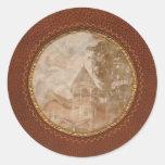 House - Victorian - Flemington, NJ - The Pink Lady Classic Round Sticker