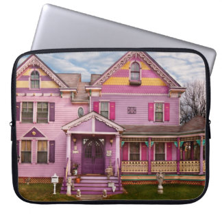 House - Victorian - I love bright colors Computer Sleeve